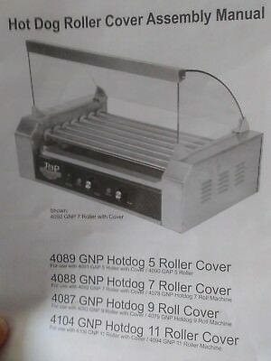 Great Nothern PopCorn Company Hotdog Cover for 11-Roller Machine Model 4104 GNP