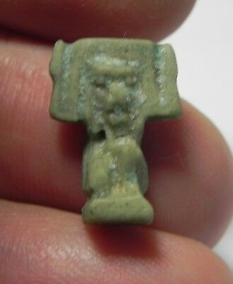 Zurqieh -As3658- Ancient Egypt, Faience Amulet Shu. 600 - 300 B.c