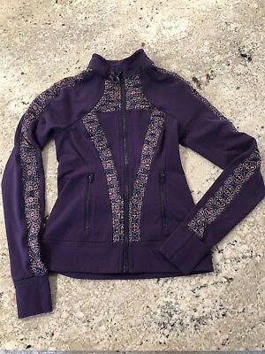 Ivivva By Lululemon Girls Coat jacket Pink purple sz 10 medium