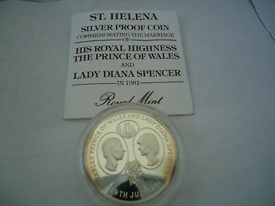 LADY DIANA 1981 SILVER Proof Coin ST HELENA 28.4 grams