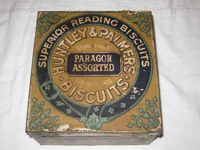 Antique Biscuit Tin Huntley Palmers Biscuits London England