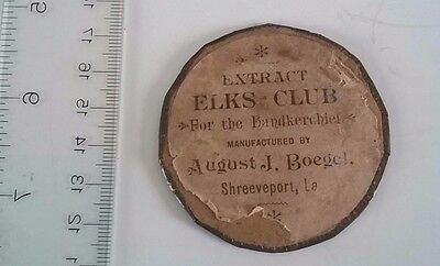 Vintage Extract Elks Club Shreeveport Louisiana Pocket Mirror August J Bogel