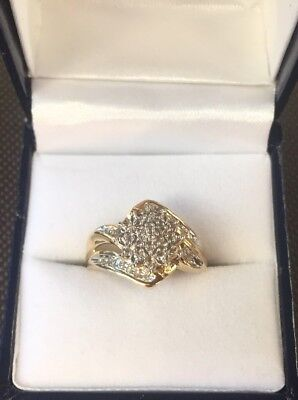 Prouds Diamond Ring 0.10 Ct Diamond On Solid 9ct Yellow Gold Ring Size- 6.5