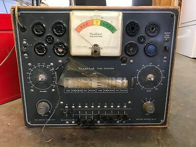 Used Vintage Heathkit Tc-2 Tube Tester Project In Non-Working Condition.