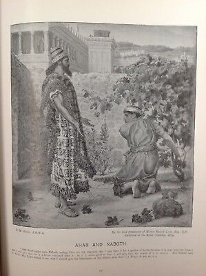 Ahab And Naboth,  Antique 1898 Print, religion, arts