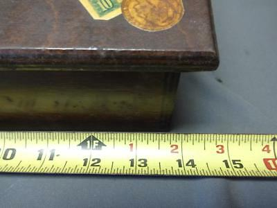 Antique Vintage Wooden Lap Desk Slave Bill Of Sale Money Collection Box