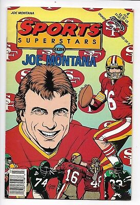 Sports Superstars Comics #4 Joe Montana - Revolutionary Comics VF+  Greg Fox cvr