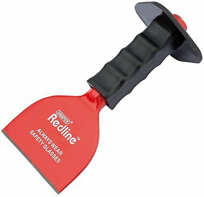 Draper Redline 100mm x 220mm Brick block Bolster chisel with Hand Guard 68603