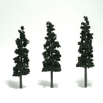 "N/HO/O Woodland Scenics TR1562 Realistic Trees - Conifer Green 6-7"" (Pkg of 3)"
