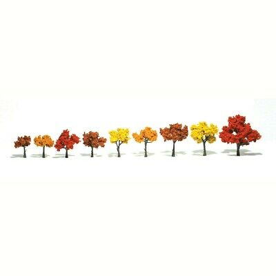"N/HO/O Woodland Scenics TR1540 Realistic Trees - Fall Mix 1.25-3"" (Pkg of 9)"