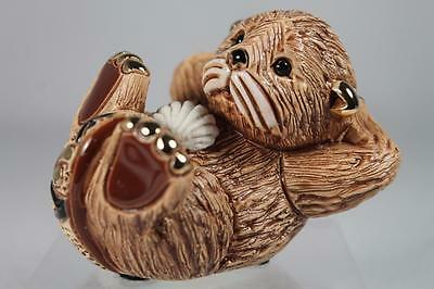 DeRosa Rinconada Family Collection 'Baby Otter' With Sea Shell #F377 New In Box