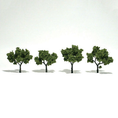 "N/HO/O Woodland Scenics TR1503 Realistic Trees - Light Green 2-3"" (Pkg of 4)"