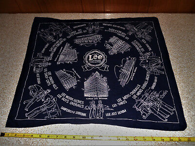 1940's-50's Lee Union Made Work Clothes Old Hankerchief Bandana Factories People