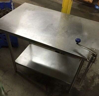 Stainless Steel Commercial Prep Table w/ can Opener