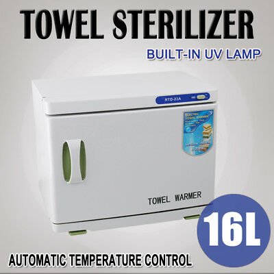 UV Towel Warmer Sterilizer Cabinet Hot Facial Disinfection Salon Heater Spa 16L