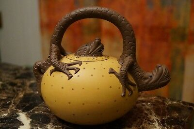 Chinese Yixing DRAGON EGG Teapot Hand Painted-Never Used!
