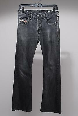 Diesel Industry Grey Cotton Blend Button Fly Stretch Flare Jeans Size 27