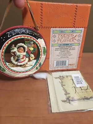 """Friends Of A Feather Ornament """"presence Of Spirit """" Santa W/bag Of Toys 2000"""