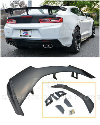 EOS For 16-Up Camaro ZL1 1LE Style ABS Plastic BK Rear Trunk Lid Spoiler Wing