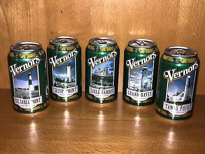 Vernor's Pure Michigan Lighthouse 12 oz. Can Collection - Complete set of 5