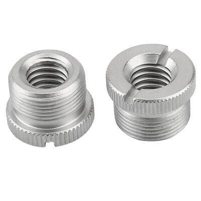 "2PCS 5/8"" Male to 3/8"" Female Microphone Screw Thread Adapter for Micro Stands"