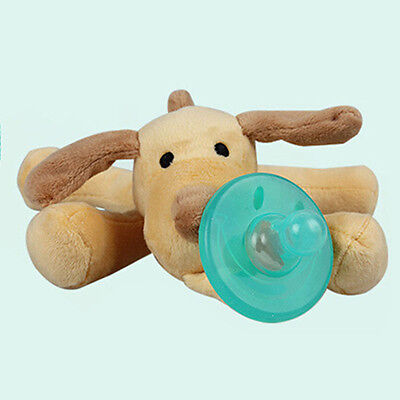 WubbaNub Infant Babys Soothies Dummy Pacifier with Cuddly Plush Animal NEW 1 pcs