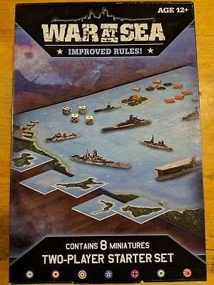 Axis and Allies War at Sea Starter Set  Game - MINT IN BOX Wizards of the Coast