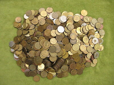 Approx 11 pounds misc tokens! Transportation/carwash/parking/novelty/tax/arcade