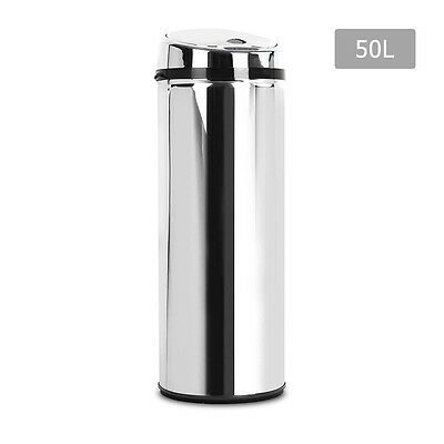 NEW 50L Stainless Steel Body Motion Sensor Trash Rubbish Kitchen Bin, Odour Free