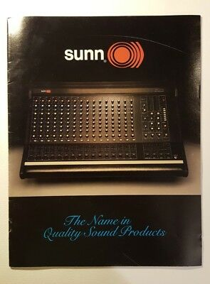 Vintage 1982 Sunn Musical Eqipment Product Catalog - Great Condition, Very Rare!
