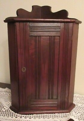 Antique 19th C. Victorian Wall-Hanging or Table-Top Corner Cupboard
