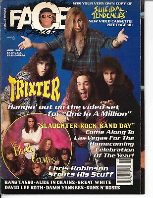 Faces Rocks Magazine June 1991	Trixter Alice In Chains Great White Guns N Roses