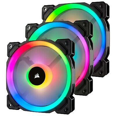 Corsair LL120 120MM RGB LED Silent Computer PC Case Cooling Cooler Fans 3 Pack