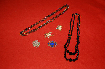 Lot de Bijoux fantaisie, vintage - broches , colliers