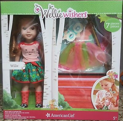American Girl WILLA Doll Set Wellie Wishers 7 Piece Accessories What A Hoot RARE