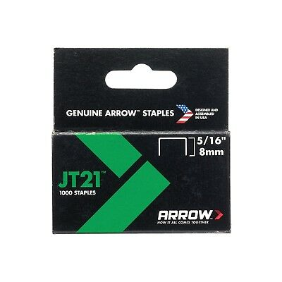 Arrow JT21 T27 Staples 8mm 5/16in Box 1000 A214