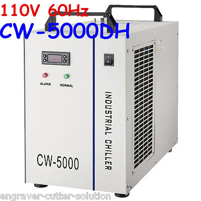 S&A CW-5000DH Industrial Water Chiller (AC 1P 110V 60Hz) for 5KW Spindle/Welding