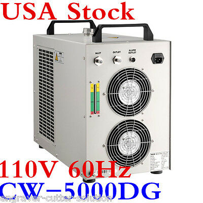 USA Stock S&A 110V 60Hz CW-5000DG Water Chiller for ONE 80W/100W CO2 Laser Tube