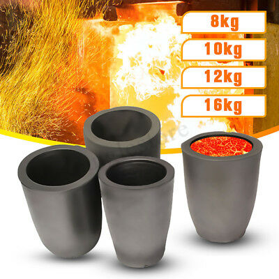 Graphite furnace casting foundry crucible melting tool 1,2,4,6,8,10,12,16 kg