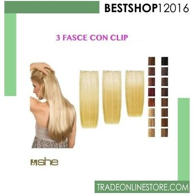 Extension Clip Easy 20 SOCAP She Capelli lisci NATURALI VERI 100 % cm 55/60