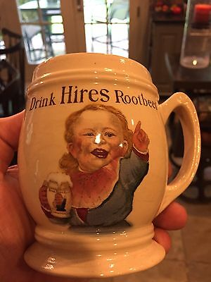 Perfect Condition 1900's Drink Hires Rootbeer Advertising Mug