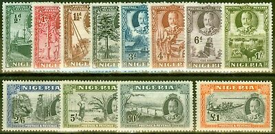 Nigeria 1936 set of 12 SG34-45 Fine & Fresh Very Lightly Mtd Mint