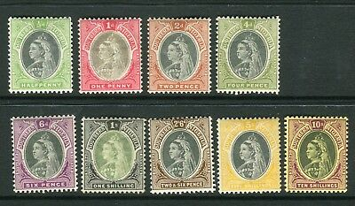 SOUTHERN NIGERIA-1901-2  A mounted mint set to 10/- Sg 1-9