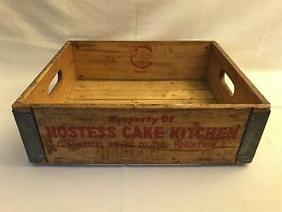 Vintage Hostess Cake Kitchen Wood Crate, Cesco Container Company, New York, NY