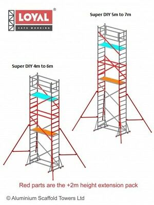 New Super DIY +2m Height Extension pack (For the 3 in ONE) Loyal Scaffold Tower