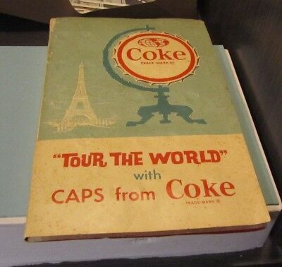 1962 Coca-Cola Tour The World With Caps From Coke Set in Original Folder 84/100