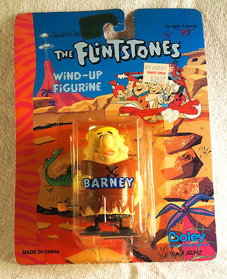 1992 Flintstones Barney Wind-Up Walking Figurine on the Original Card
