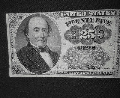 1874 .25 Cent Fractional Note