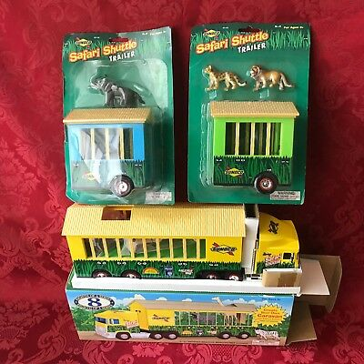 2001 Sunoco Safari Shuttle Truck with Elephant and Lions Trailers-New in Box