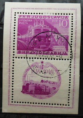 Yugoslavia - Railway Block 1949 Mi: Block 4A Used Perforated